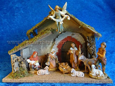 5 quot fontanini nativity scene 10 pc w wooden stable 54481