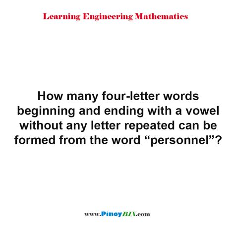 four letter words ending in solution how many four letter words beginning and ending with a vowel without any letter