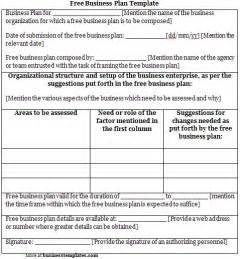 Free Business Plans Templates Free Business Plan Template Sample Business Templates