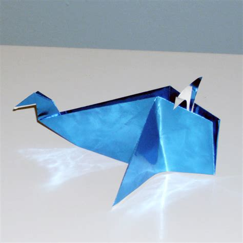 Whale Origami - cool blue origami whale 2016