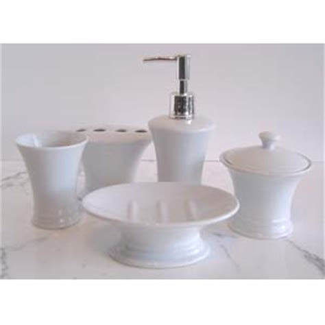 white ceramic bath accessories
