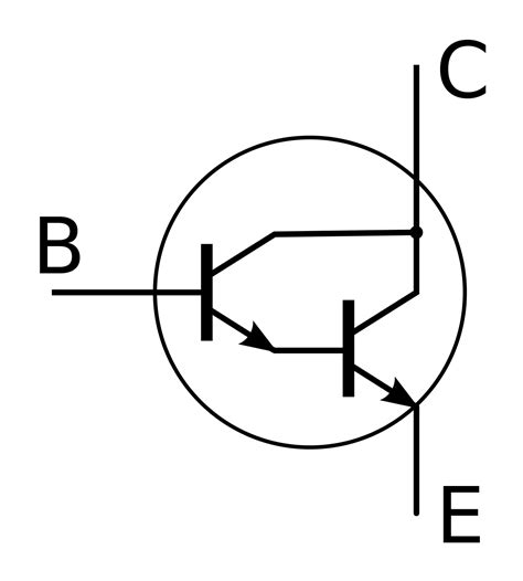 transistor darlington pnp darlington transistor simple the free encyclopedia