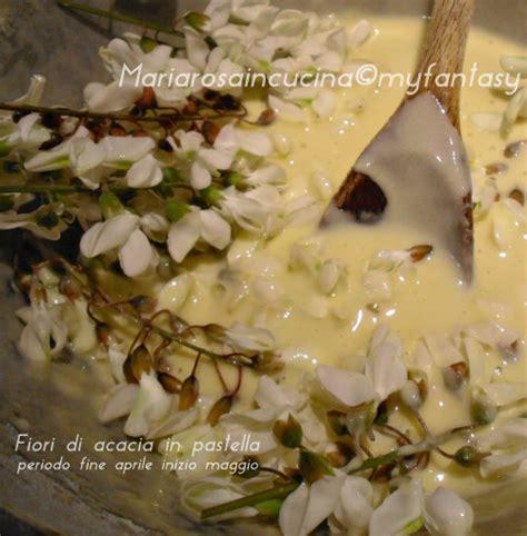 fiori di acacia in pastella frittelle con fiori di acacia