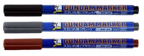 Gm03 Gundam Marker Lining Brown the gunpla panel lining gunpla s guide to markers and