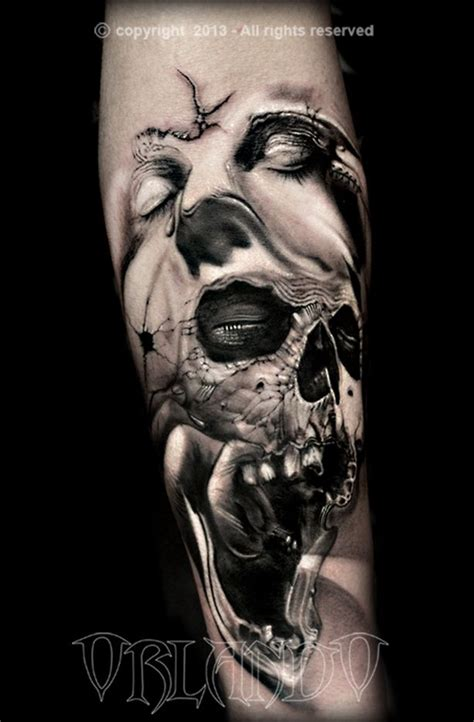 skull tattoo pura tinta just ink pinterest