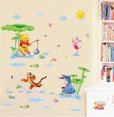 Wallpaper Sticker Dinding Biru Kartun Anak Winnie The Pooh Friends Buy Grosir Pooh Dinding Kertas Stiker From China Pooh Dinding Kertas Stiker Penjual