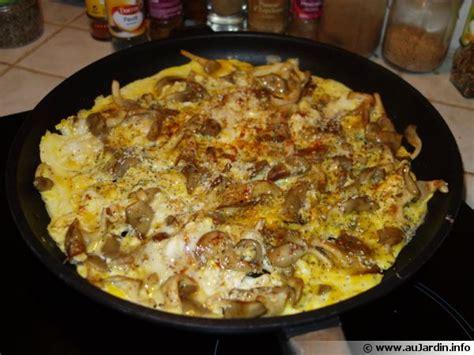 cuisiner les pleurotes omelettes aux pleurotes et aux deux graines recette de