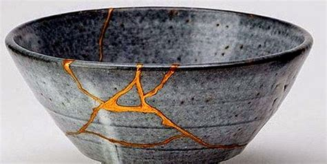 Art Of Recycle by Gold Leaf In The Japanese Kintsugi Technique Manetti Com