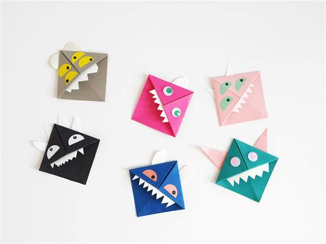 Origami Monsters - diy origami paper monsters by la maison de loulou