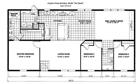 iseman homes floor plans 13 78031 1375 28x56 clayton wyatt