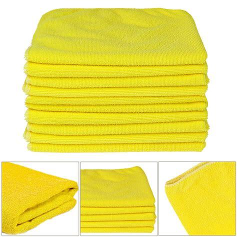 car microfiber towels 12 ultra soft kirkland signature micro fibre plush car cloths microfiber towels ebay