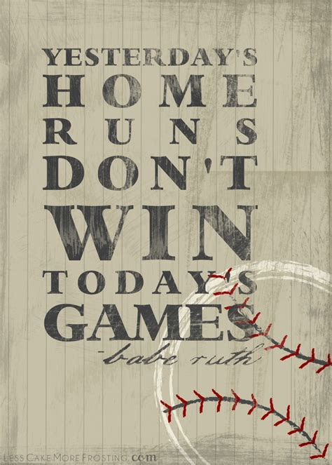 printable sports quotes baseball sayings by babe ruth www imgkid com the image