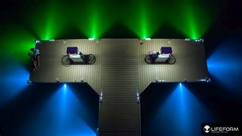how to make your dock the coolest on the lake lifeform led - Underwater Lights For Boat Docks