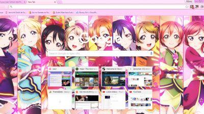 google chrome themes love live hanayo koizumi chrome themes themebeta