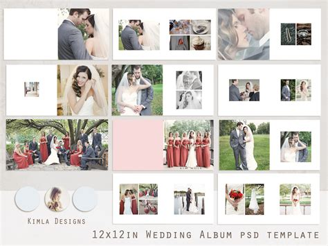 on sale 12x12 wedding album psd template