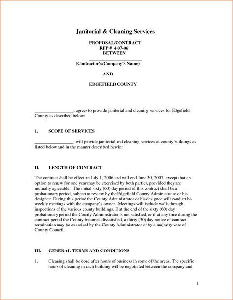 4 Service Business Proposal Sles Project Proposal Rfp For Cleaning Services Template