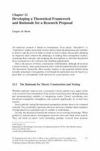 Theoretical Framework Examples Research Paper Example Of A Theoretical Framework In A Research Proposal
