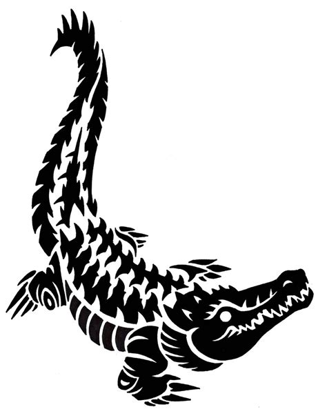 tribal crocodile