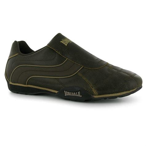 Sepatu Lonsdale Camden Slip On Mens Black White lonsdale camden slip on mens trainers brand new all