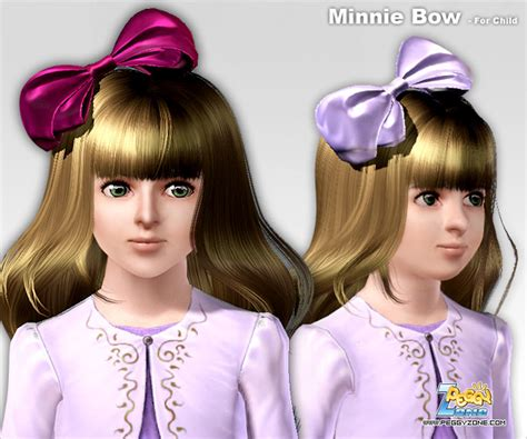 my sims 4 blog hair bow by s club my sims 3 blog minnie bow donation hair accessory by peggy