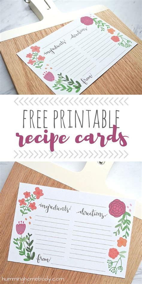 recipe card template boho best 25 printable recipe cards ideas on