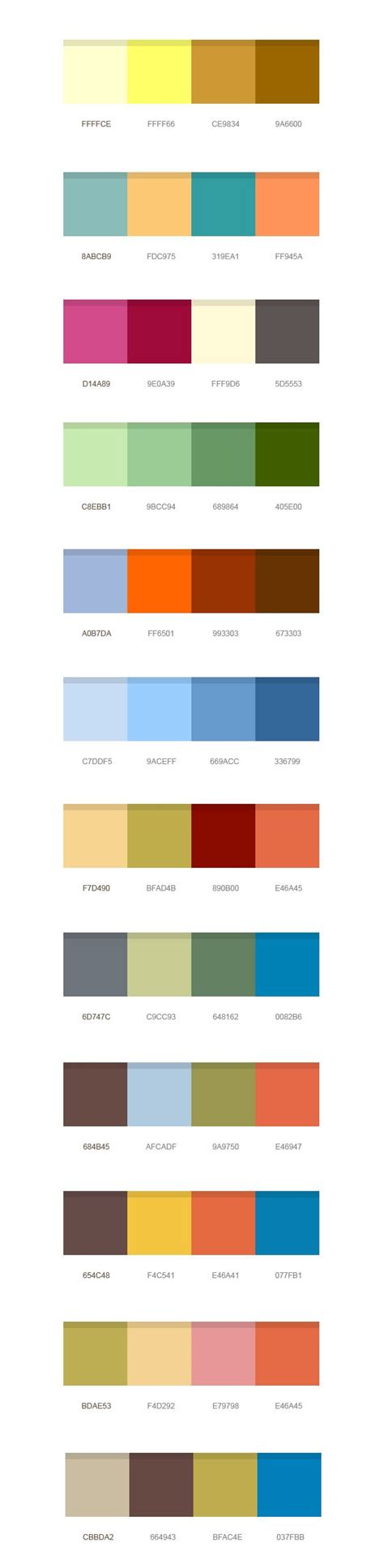 12 color combinations logos business and color combos 12 set of color combinations psd vector images 365psd com