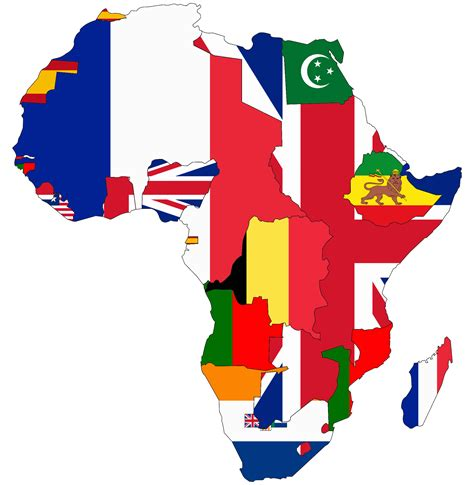 africa map flags africa map with flags