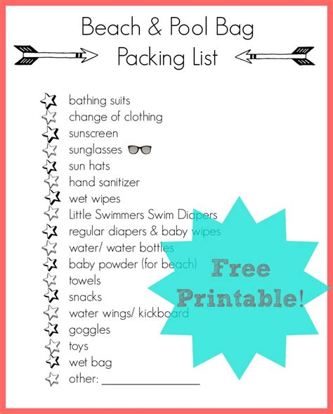 printable beach vacation packing list the ultimate family road