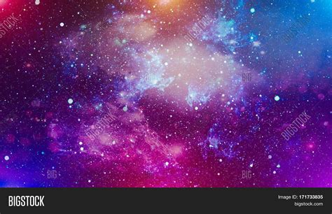 cosmic background space background with stardust and shining