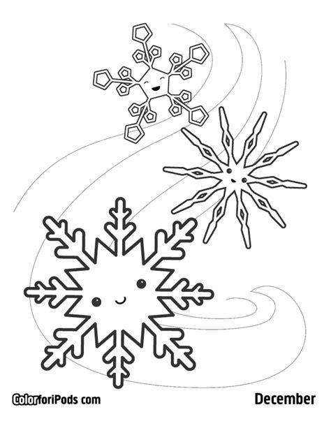 christmas coloring pages kawaii snowflakes coloring page coloring home