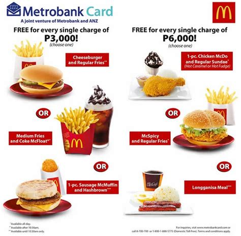 Paket 1 Sandwich free mcdonald s from metrobank tips to get best value