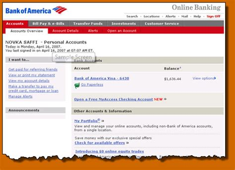 6 Bank Of America Online Banking Statement Lease Template Bank Of America Bank Statement Template