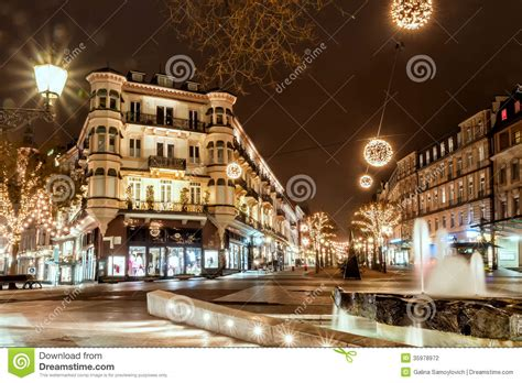 baden baden germany december  city christmas decoration  editorial photography image