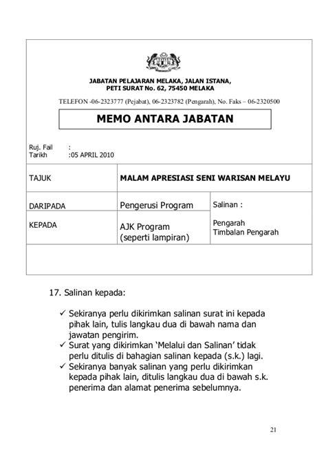 Format Memo Jabatan Betulkan Yang Lazim Dan Lazimkan Yang Betul