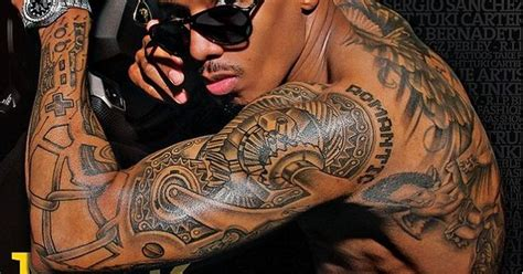 nick cannon tattoo on his back nick cannon arm intellego