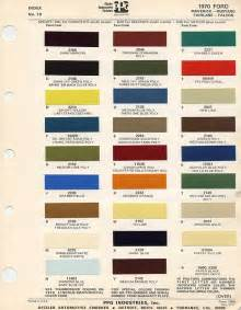 1970 mustang paint chip and paint mixing codes maine mustang