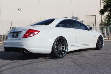 White Mercedes Benz Black Rims