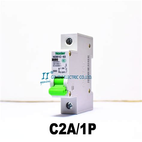Mini Circuit Breaker 1p 2a Broco mini 1p c type 2a ac230v 400v thermal magnetic trip