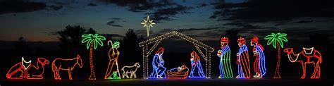 light style nativity scene large nativity scene northern lights display banners