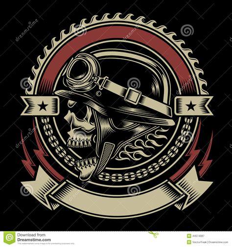 design t shirt bikers vintage biker skull emblem stock vector image of insignia