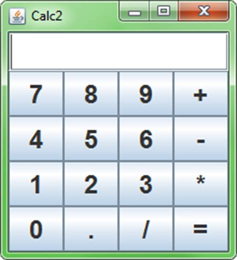 calculator in java using swing java about layouts in simple calculator stack overflow