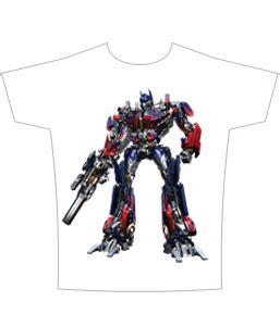 Sandal Print Transformer Optimus Prime transformers optimus t shirt sheer