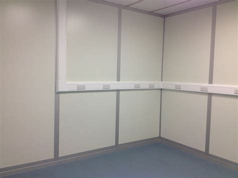 Cleanroom electrical sockets, trunking and vinyl flooring