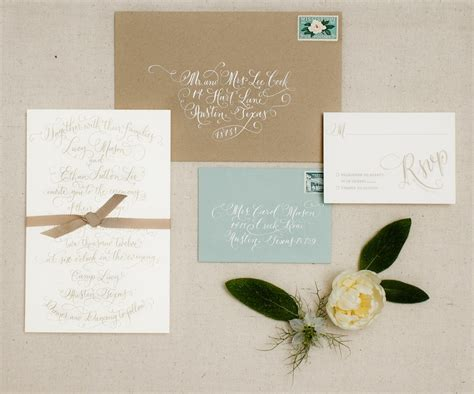 custom wedding invitations vintage design with soft color and white gravity fonts st and