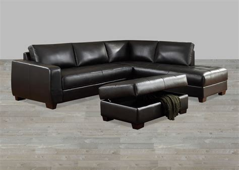 Leather Sofa With Chaise Lounge Black Top Grain Leather Sectional With Chaise Lounge