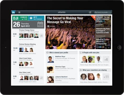 ipad app news telegraph weekly launches ipad edition t3 linkedin launches ipad app and mobile apps get a huge update