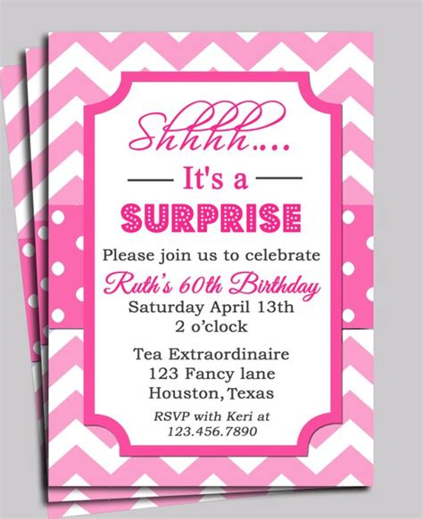 Tea Baby Shower Invitation Wording by Chevron Invitation Printable Or Free Shipping You