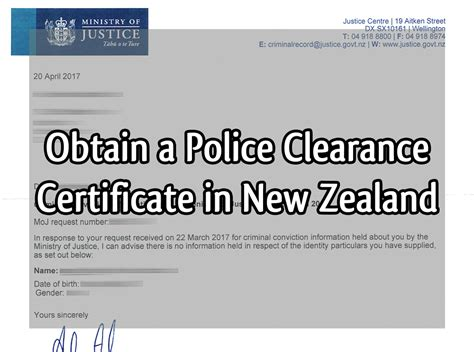 How To Obtain Your Criminal Record Obtain A Clearance Certificate In New Zealand Flipping Choices