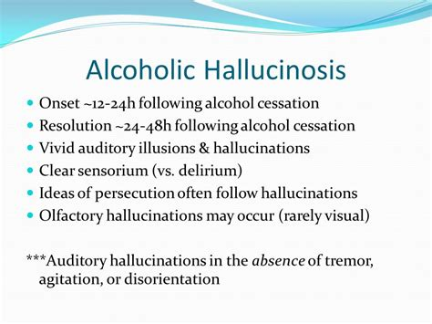 Detox Hallucinations by Management Of Withdrawal Ppt