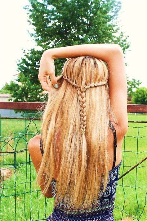 hippie hairstyles for long straight hair boho chic long blonde hairstyle with braid styles weekly
